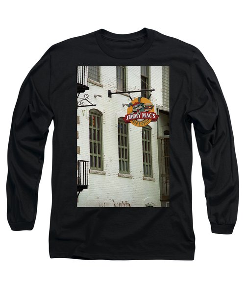 Long Sleeve T-Shirt featuring the photograph Rochester, New York - Jimmy Mac's Bar 3 by Frank Romeo