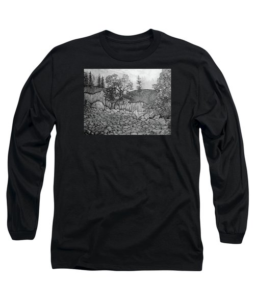 Rock Beach Long Sleeve T-Shirt by John Stuart Webbstock