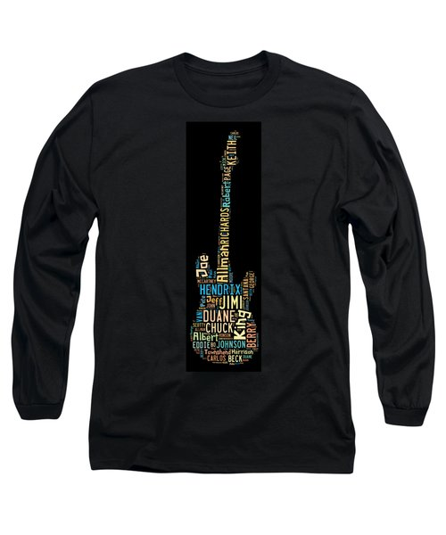 Long Sleeve T-Shirt featuring the digital art Rock Guitar Legends by Bill Cannon