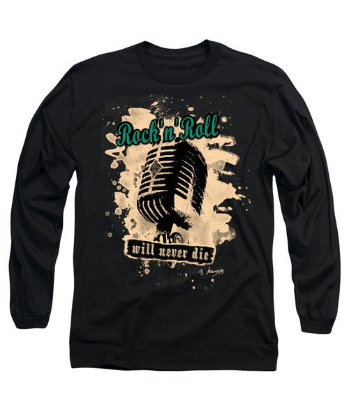 Rock-n-roll Microphone  Long Sleeve T-Shirt