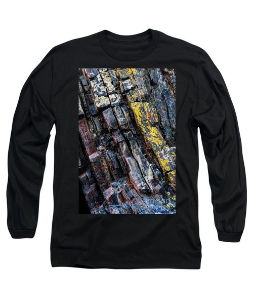Long Sleeve T-Shirt featuring the photograph Rock Pattern Sc02 by Werner Padarin