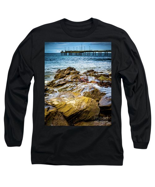Long Sleeve T-Shirt featuring the photograph Rock Pier by Perry Webster