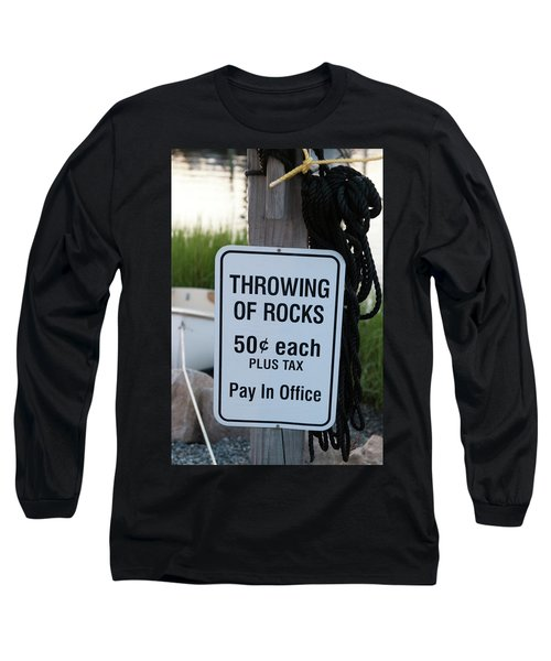 Rock Throwing Charge Long Sleeve T-Shirt