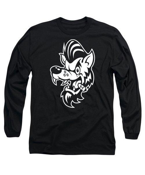 Rockabilly Wolf Head Long Sleeve T-Shirt