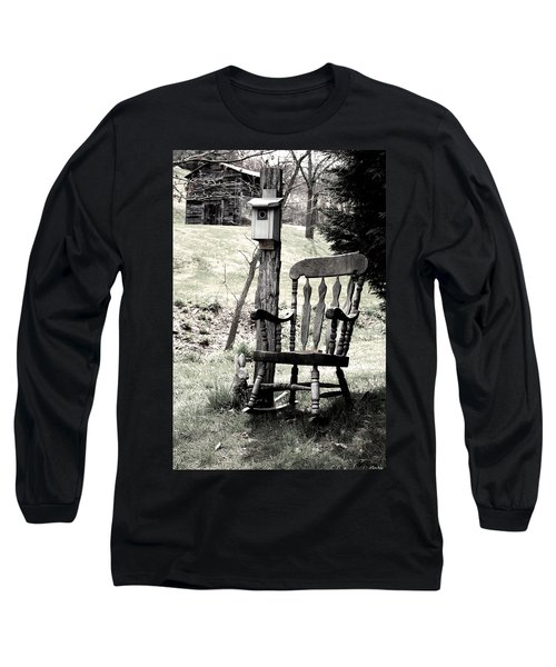 Rocking Chair Long Sleeve T-Shirt by Gray  Artus