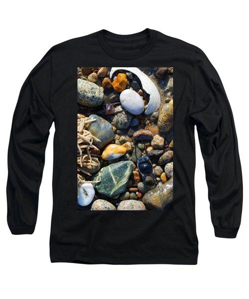 Rocks And Shells On Sandy Neck Beach Long Sleeve T-Shirt