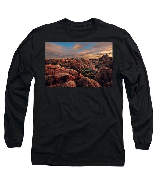 Rocks At Sunrise Long Sleeve T-Shirt