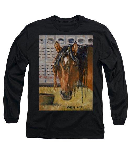 Rodeo Horse Long Sleeve T-Shirt by Lori Brackett
