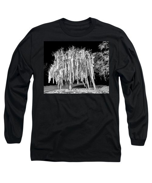 Rolled Tree Blk N White Long Sleeve T-Shirt