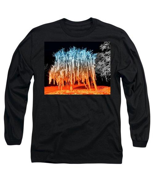 Rolled Tree Orangenblue Long Sleeve T-Shirt
