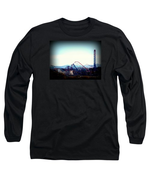 Roller Coasters At Twilight Long Sleeve T-Shirt
