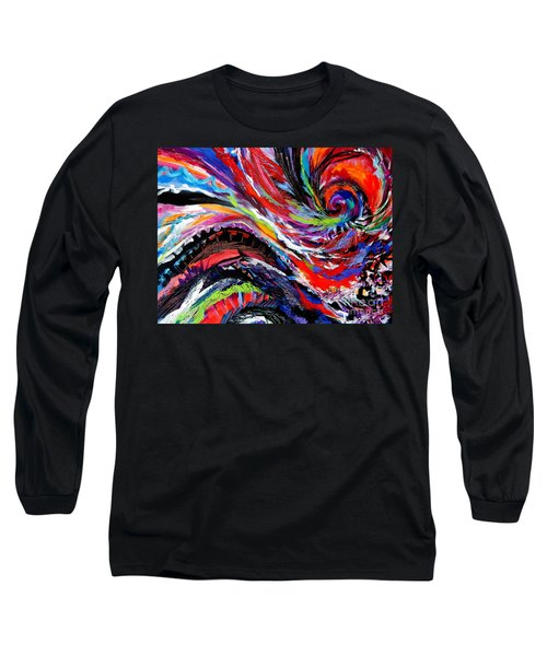 Rolling Detail Three Long Sleeve T-Shirt