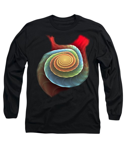 Long Sleeve T-Shirt featuring the digital art Rolling Spiral by Anastasiya Malakhova
