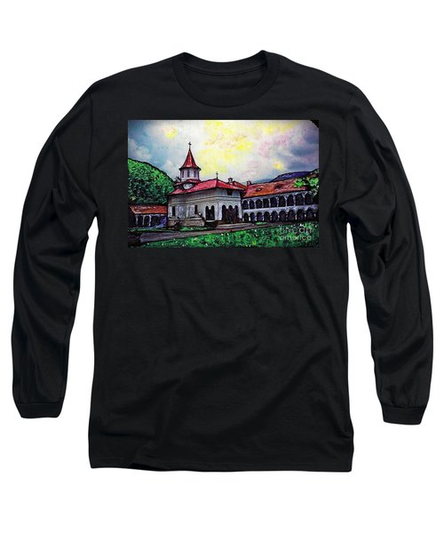 Romanian Monastery Long Sleeve T-Shirt