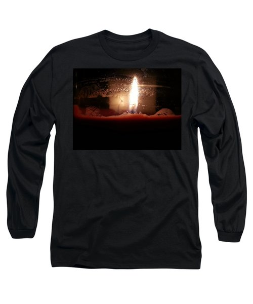 Long Sleeve T-Shirt featuring the photograph Romantic Candle by Robert Knight