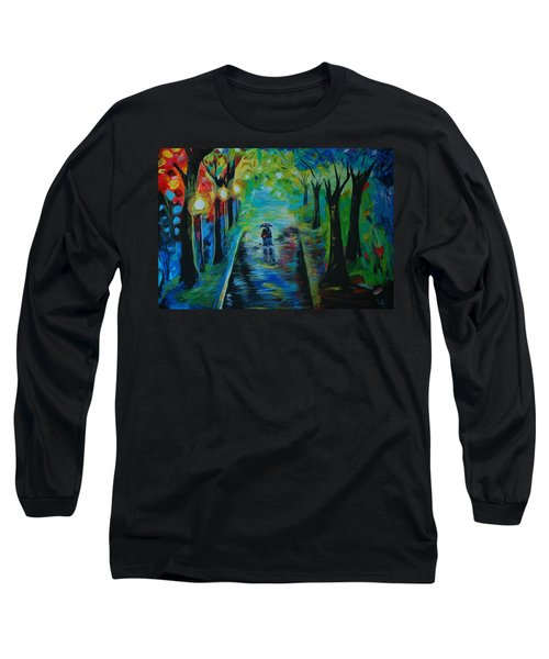 Long Sleeve T-Shirt featuring the painting Romantic Stroll by Leslie Allen