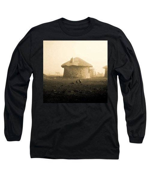 Rondavel In Lesotho Long Sleeve T-Shirt