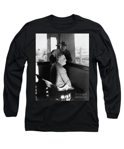 Roosevelt And Churchill Long Sleeve T-Shirt by Granger
