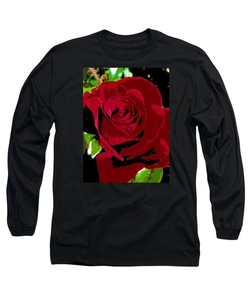 Rose Bloom Long Sleeve T-Shirt by Matthew Bamberg