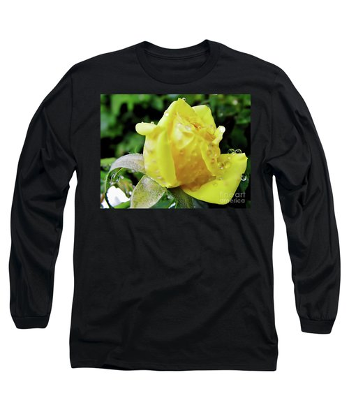 Rose Bud Dew Drops Long Sleeve T-Shirt