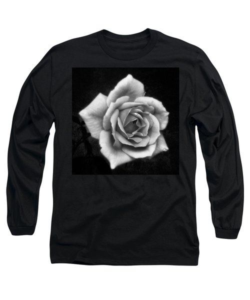 Rose In Mono. #flower #flowers Long Sleeve T-Shirt