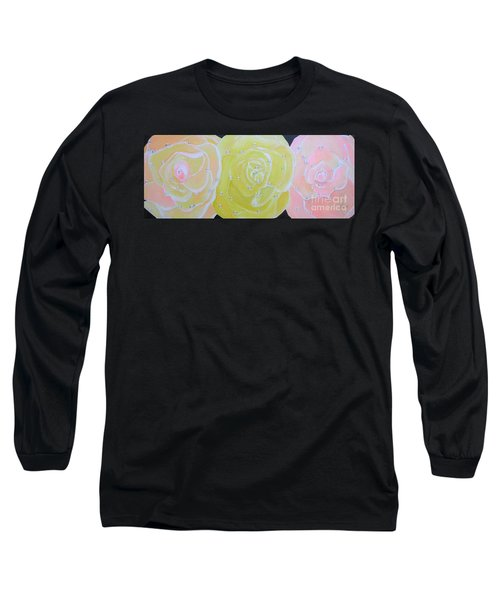 Rose Medley With Dewdrops Long Sleeve T-Shirt