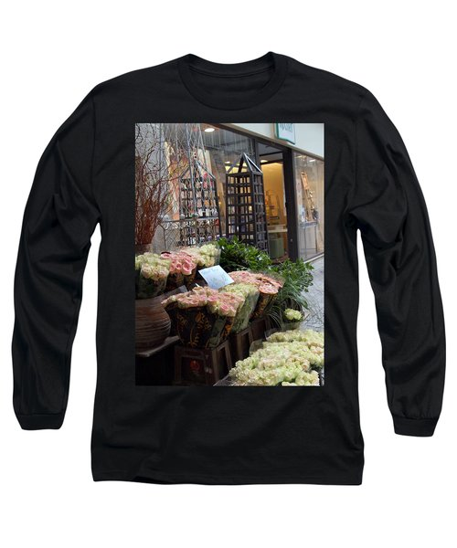 Rose Stand Long Sleeve T-Shirt by Catherine Alfidi