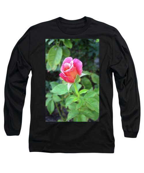 Rosebud Long Sleeve T-Shirt by Mary Ellen Frazee