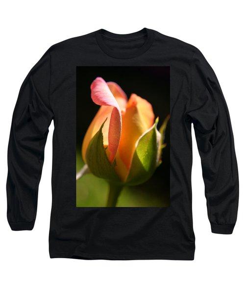 Rosebud Long Sleeve T-Shirt by Ralph A  Ledergerber-Photography