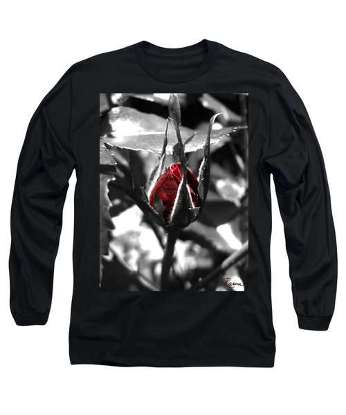 Rosebud Red Long Sleeve T-Shirt