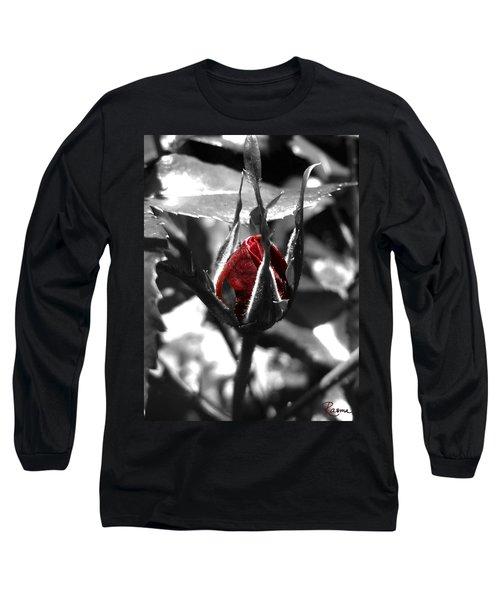 Rosebud Red Long Sleeve T-Shirt