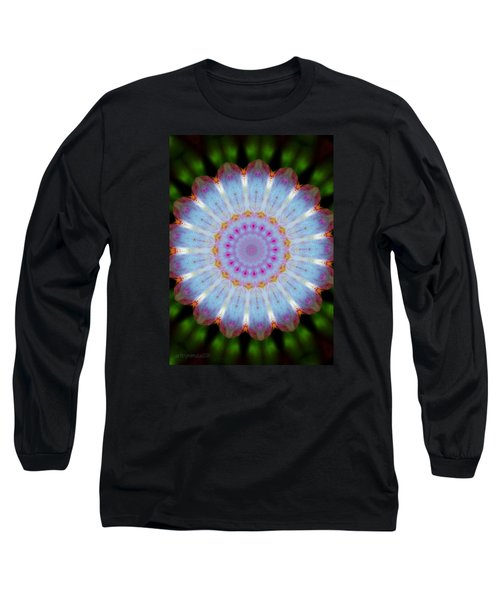 Rosepetals Mandala Long Sleeve T-Shirt by Mimulux patricia no No