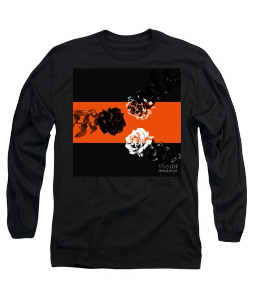 Roses Interact With Orange Long Sleeve T-Shirt
