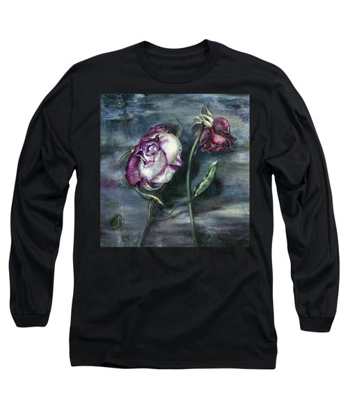 Roses Never Die Long Sleeve T-Shirt by Nadine Dennis