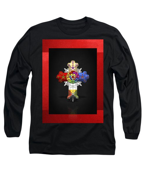 Rosy Cross - Rose Croix  Long Sleeve T-Shirt