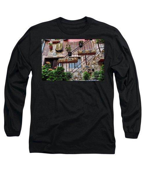 Rovinj Old Town Courtyard, Rovinj Croatia Long Sleeve T-Shirt