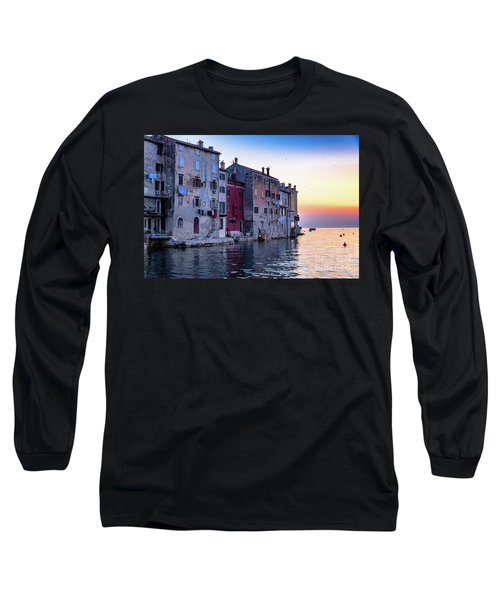 Rovinj Old Town On The Adriatic At Sunset Long Sleeve T-Shirt