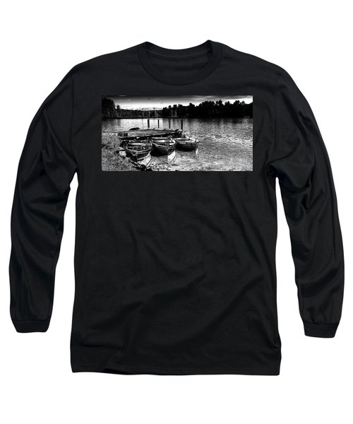 Long Sleeve T-Shirt featuring the photograph Rowboats At The Dock 2 by David Patterson
