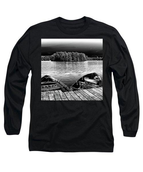 Long Sleeve T-Shirt featuring the photograph Rowboats At The Dock 4 by David Patterson