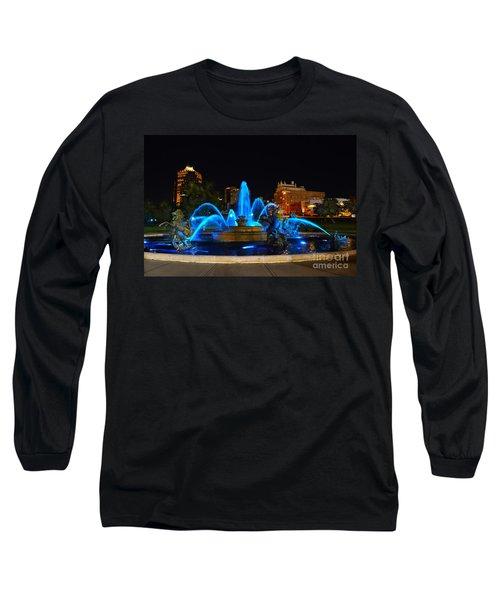 Royal Blue J. C. Nichols Fountain  Long Sleeve T-Shirt by Catherine Sherman