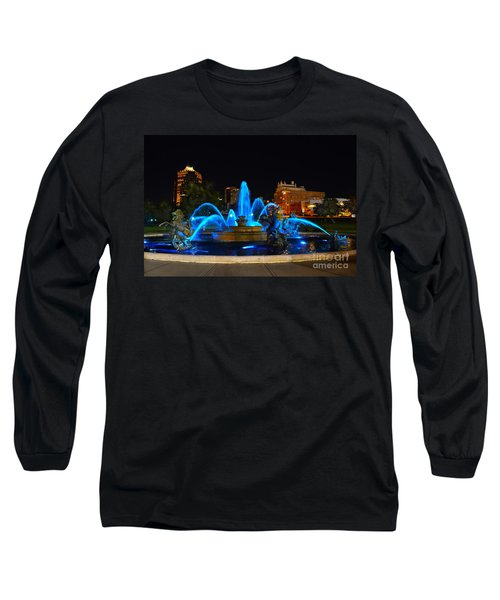 Royal Blue J. C. Nichols Fountain  Long Sleeve T-Shirt