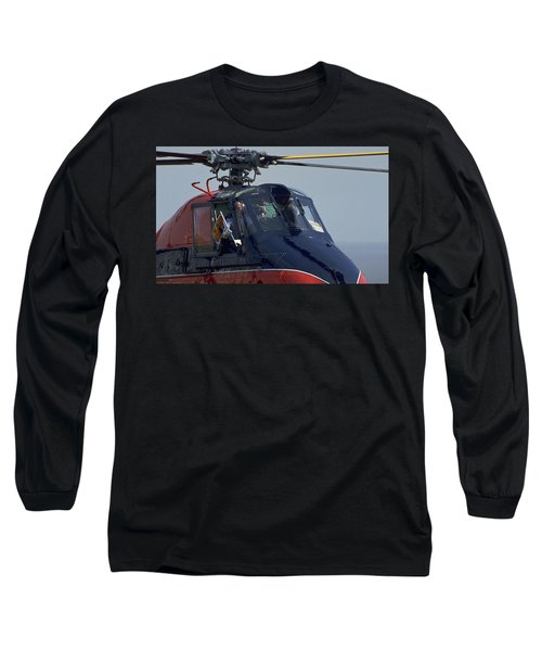 Long Sleeve T-Shirt featuring the photograph Royal Helicopter by Travel Pics