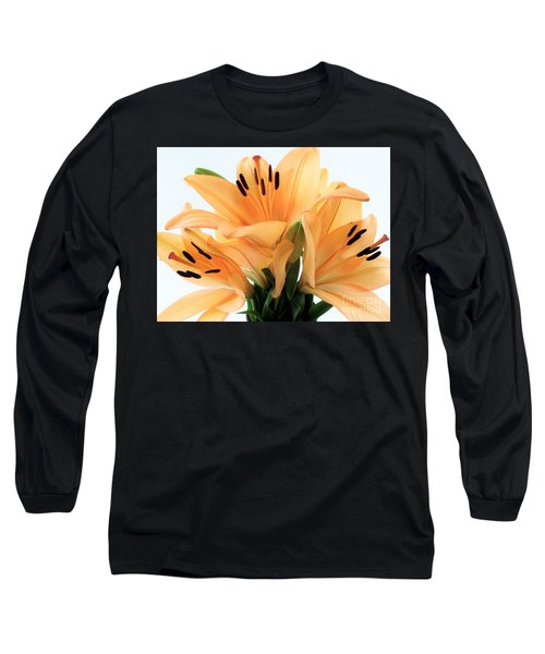 Long Sleeve T-Shirt featuring the photograph Royal Lilies Full Open - Close-up by Ray Shrewsberry