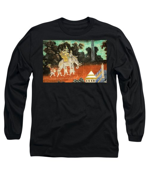Royal Palace Ramayana 01 Long Sleeve T-Shirt