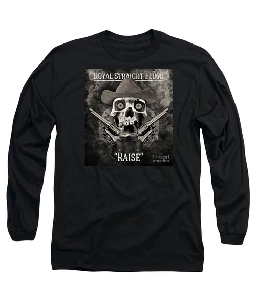 Long Sleeve T-Shirt featuring the digital art Royal Straight Flush by Phil Perkins