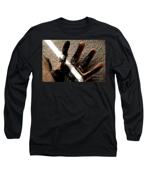 Long Sleeve T-Shirt featuring the photograph Rubber Hand by Micah May