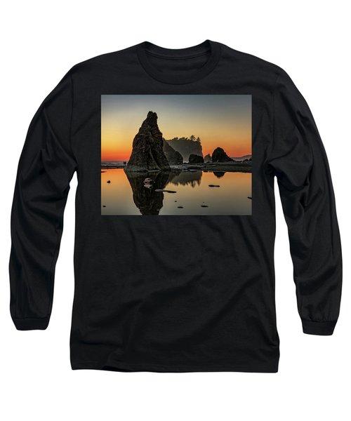 Ruby Beach At Sunset Long Sleeve T-Shirt