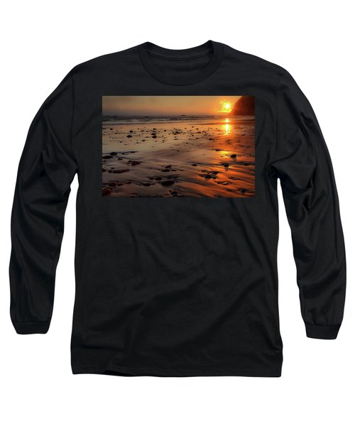 Ruby Beach Sunset Long Sleeve T-Shirt by David Chandler