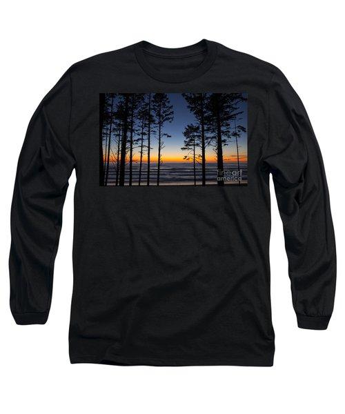Ruby Beach Trees #4 Long Sleeve T-Shirt
