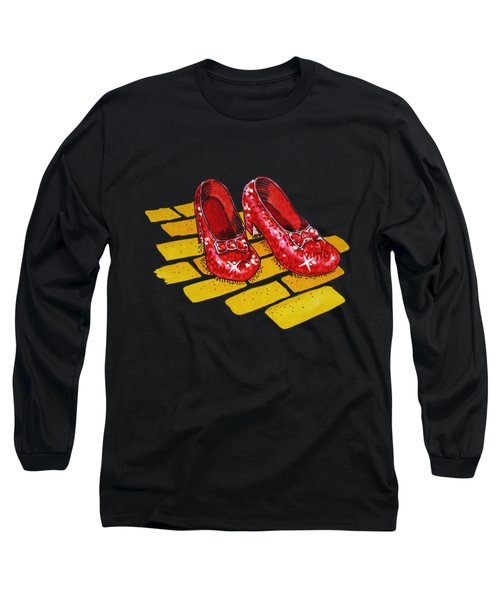 Ruby Slippers From Wizard Of Oz Long Sleeve T-Shirt